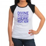 divine inheritance women's cap t-shirt