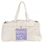your are more powerful duffel bag