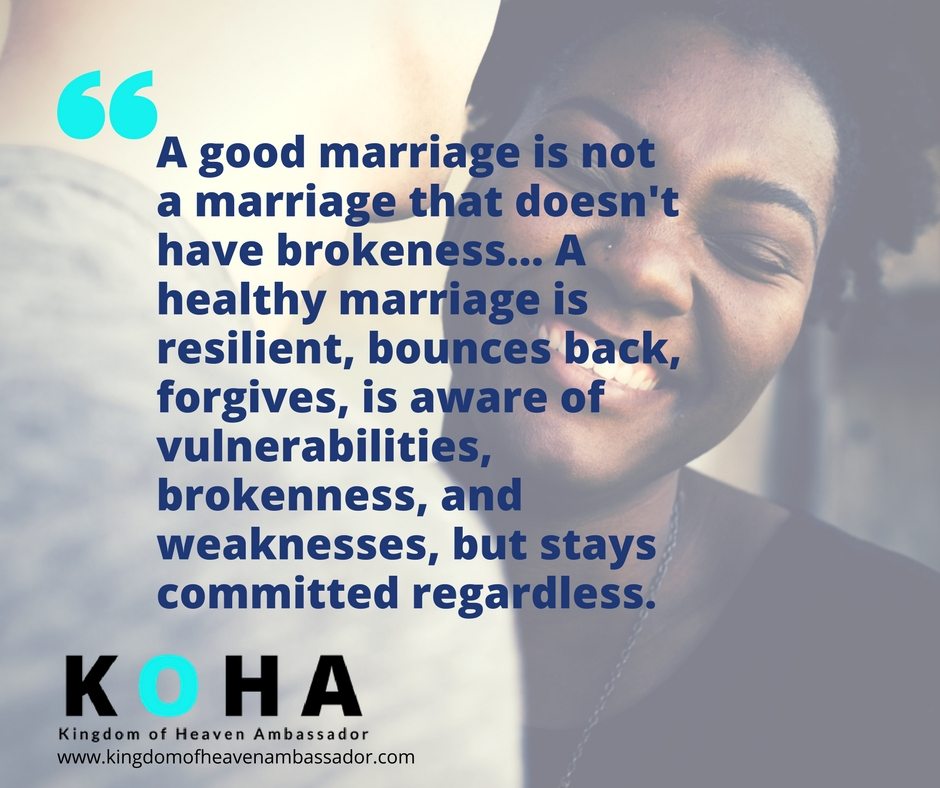 marriage and brokenness