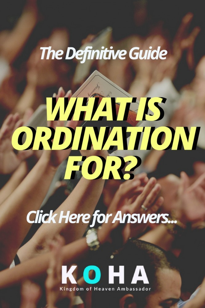 what is ordination for